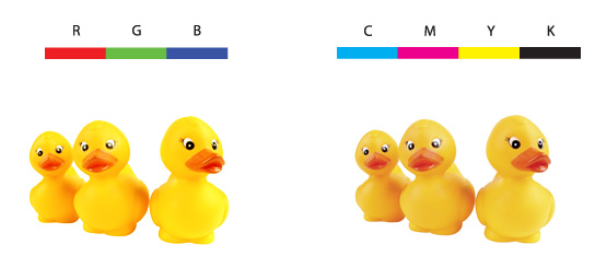Below Are Two Examples Showing The Difference Between RGB And CMYK Although Images Very Similar There Slight Differences In Colors